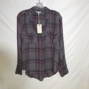 Lucky brand fanned button down shirt. NWT